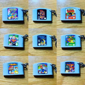 Nintendo 64 Miniature Cartridge Keyring