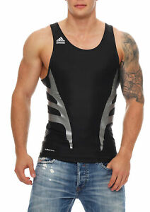 professional sale beauty cost charm Details zu Adidas PWED TANK Shirt Funktionsshirt Herren Climacool schwarz  Techfit P14132