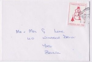 Stamp-England-15p-Chipping-Sodbury-Scouts-label-Christmas-Post-on-cover-Bristol