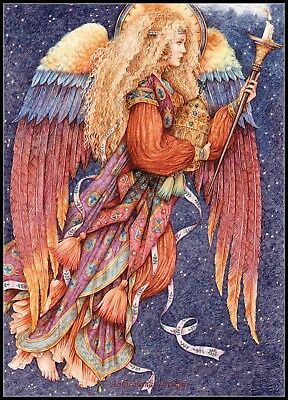 Counted Cross Stitch Kits Chart Needlework Crafts DIY Angel with Bunny