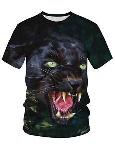 PIZOFF-3D-Druck-Schwarz-kaltbluetiger-Wolf-T-Shirt