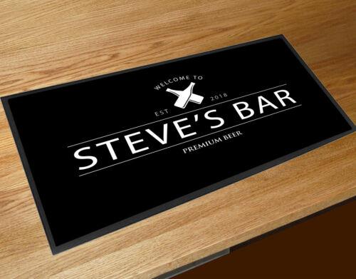 Personalised white bottles beer label Bar bar runner Pubs /& Cocktail Bars