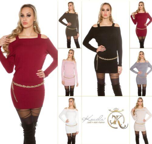 Koucla Carmen Strickkleid Minikleid Kleid Longpullover Dress