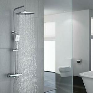 Details About Thermostatic Three Functions Shower System 8 Inch Overhead Rain Head