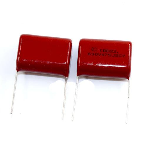 2PCS CBB Metallized Polypropylene Capacitors 630V475J 630V475 4.7uf P=25MM