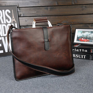 Men-Leather-Briefcase-Laptop-Bag-Attache-Messenger-Portfolio-Bags-Brown-Fashion
