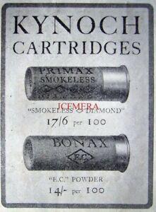 KYNOCH-Primax-amp-Bonax-Shotgun-Cartridge-1923-ADVERT-1-Small-Original-Print-AD