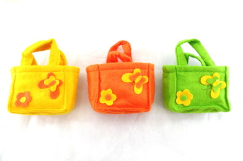 Filztüten Taschen 24 Stück  je 8 Stück in 3 Farben  gelb orange grün Deko