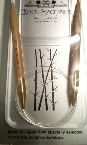 """Crystal Palace Circular Bamboo Knitting Needles 16/"""" Size US 11  8.0mm Japan NEW"""