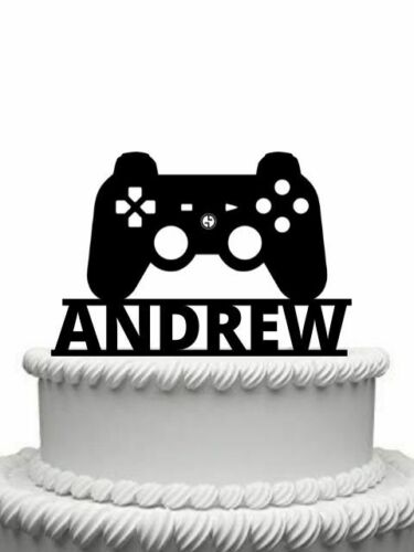 Personalised Games Console Controller Gloss Acrylic Cake Topper Any Name