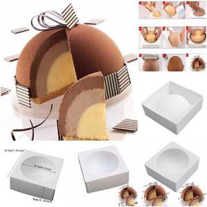 1PCS Silicone ZUCCOTT Semicircle Shape Cake Mold For Baking Ice-Creams Mousse