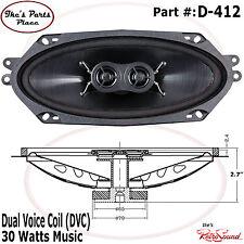 "RetroSound D-412 DVC 4x10"" Factory Dash Replacement Speaker 30W-GM"