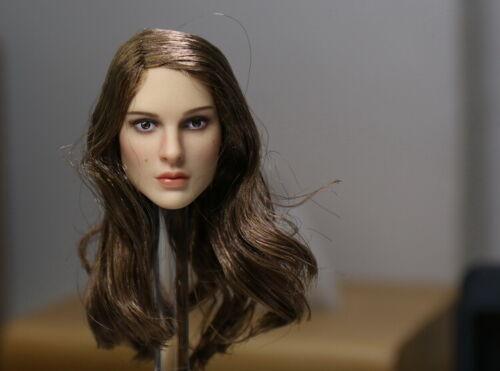 """KIMI TOYS 1//6 Natalie Portman Female Head Carving Model For 12/"""" Girl Figure Body"""