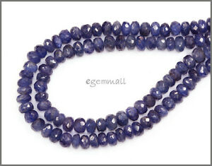 Blue-Sapphire-Rondelle-Beads-Faceted-4mm-76ct-15-034-85313