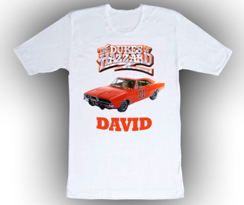 Personalized Custom Dukes of Hazzard Birthday Shirt Gift in 8 shirt colors