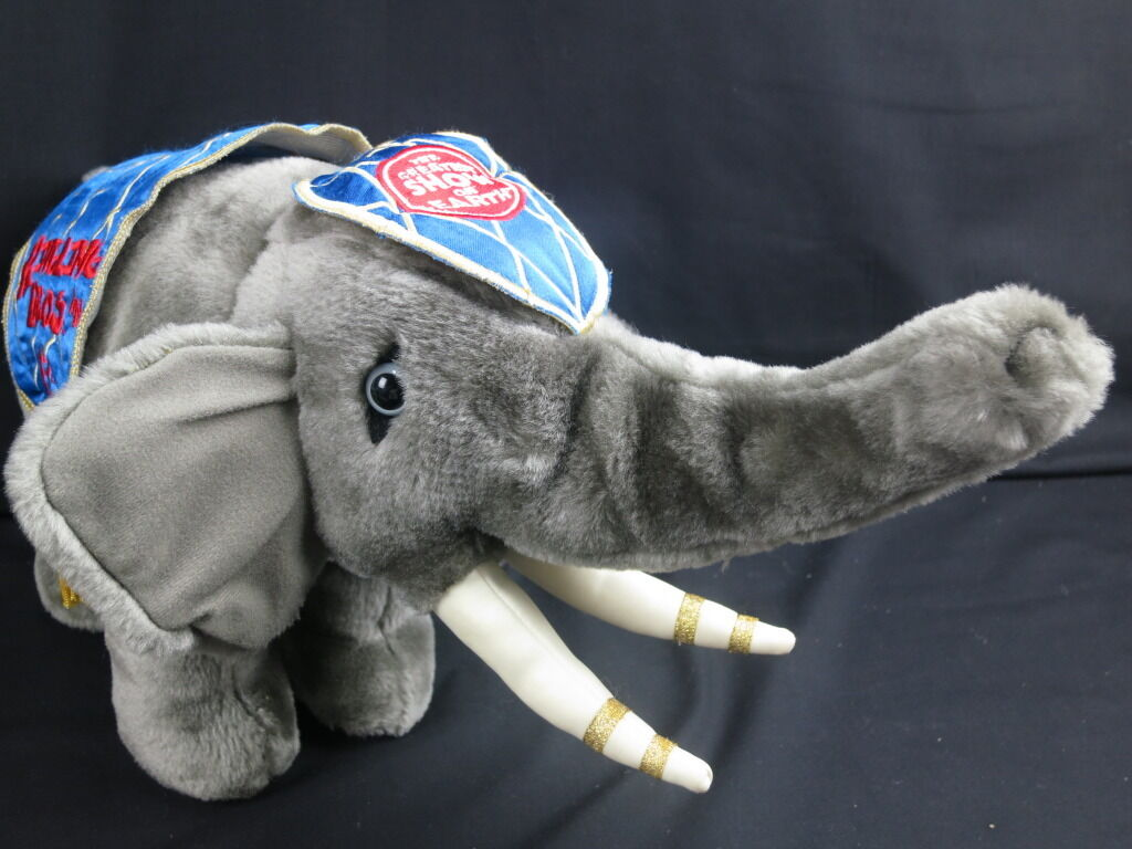 RINGLING BROTHERS BARNUM & BAILEY CIRCUS ELEPHANT 132ND PLUSH STUFFED ANIMAL TOY