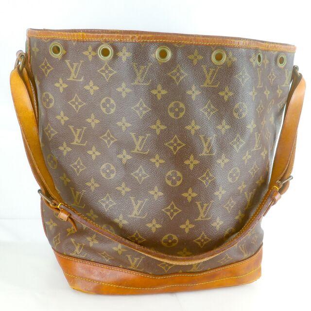 LOUIS VUITTON NOE Drawstring Shoulder Bag Purse Monogram M42224 Brown