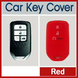 Car-Key-Cover-Case-Protector-Fits-Honda-Accord-CRV-Civic-3-Button-Remote-RED