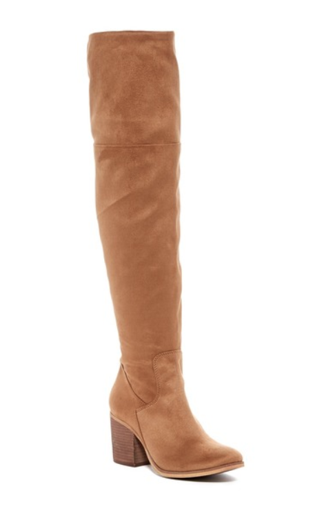 Melpink And Market Womens Stacey Over The Knee Cognac Boot Sz 7 M 10067