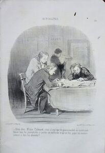 """Lithographie De Daumier, """"actualités"""""""