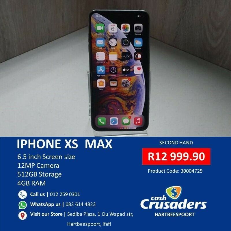 iPhone XS  MAX - Ad by Cash Crusaders Hartbeespoort