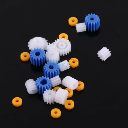 Plastic Gear Kits Pulley Belt Shaft Worm Crown Robot Motor Gearbox DIY Toys Car