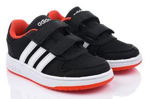 Details zu Kinderschuhe ADIDAS HOOPS 2.0 CMF Turnschuhe Sneaker Klettverschluss Gr. 21 27