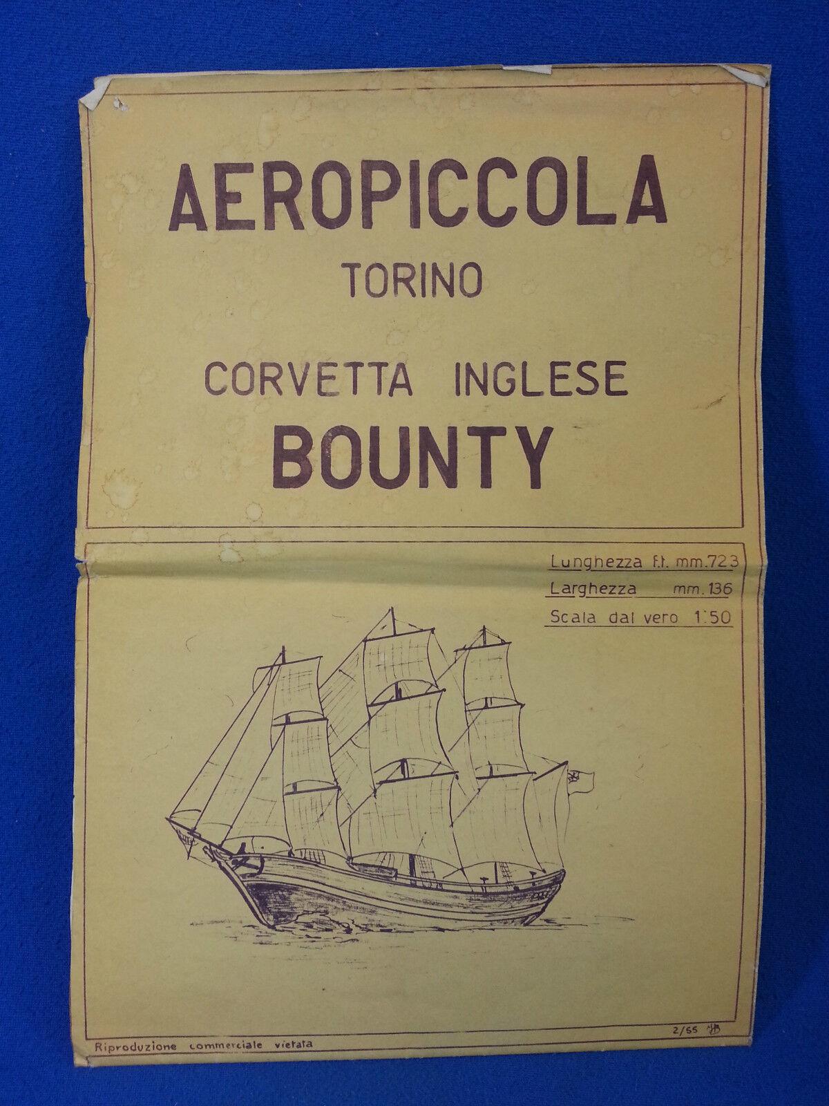 Aeropiccola - corvetta tedesco bounty - disegno costruttivo