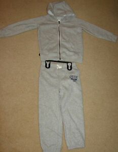 New Carter/'s Baby Boys/' 2 Piece Fleece Half Top Zip Jogger Set Size 3T $30 Gray