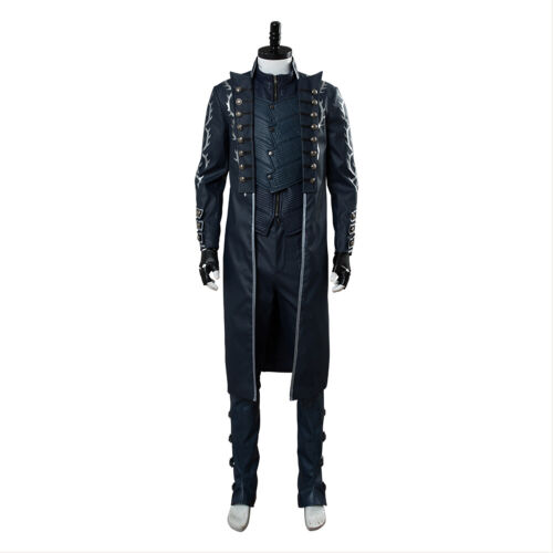 Devil May Cry 5 DMC5 Vergil Aged Outfit Cosplay Costume Full Set Jacket