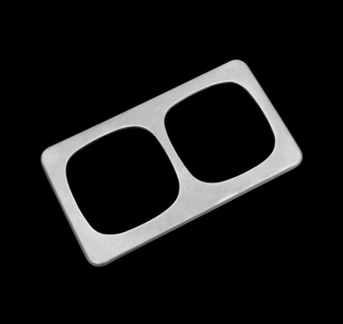 Chrome Rear Seat Drink Cup Holder Cover Trim Bezel For Nissan Qashqai 2014-2016