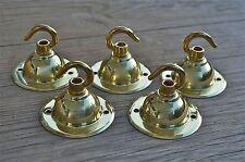 Set di 5 stile antico in ottone LUCE ROSA GANCIO SOFFITTO GANCIO chadelier STAFFA NR6