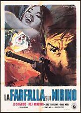 LA FARFALLA SUL MIRINO MANIFESTO NOIR CULT MOVIE JAP 1967 殺しの烙印 MOVIE POSTER 2F