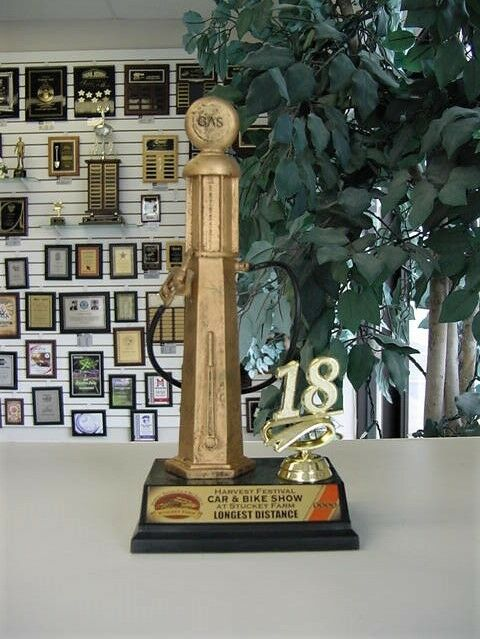 Gas Pump Car Show Trophy Tall Award Lettering EBay - Car show trophy packages