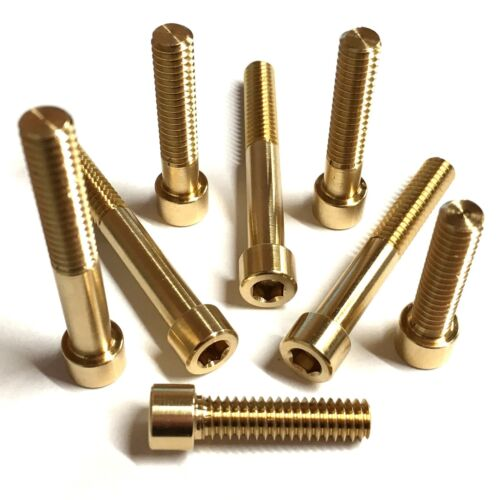 6-32 UNC Brass Socket Cap Head Screws Imperial Allen Hex Bolts Unified Coarse