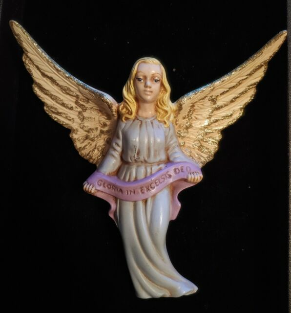 Vintage Nativity Ceramic Winged Angel Holland Mold 1970's Gloria In Excelsis Deo | eBay