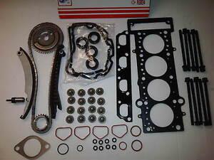BMW-Mini-One-R50-R52-R53-1-6-Steuerkettensatz-Kopfdichtung-Set-amp-Kopfschrauben