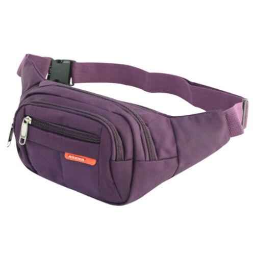 Unisex Waterproof Waist Bum Bag Fanny Pack Belt Money Pouch Wallet Travel Bag F*