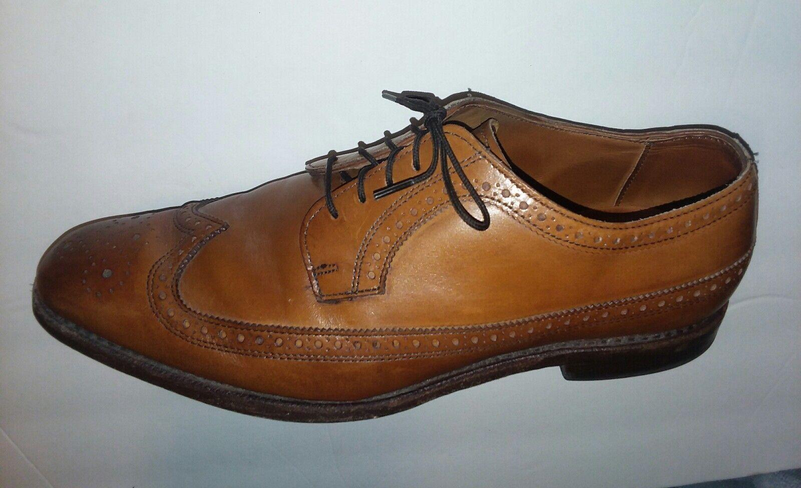 Allen Edmonds Leiden Bout D'Aile En Cuir Marron Homme Chaussures Oxford Taille 10.5 D