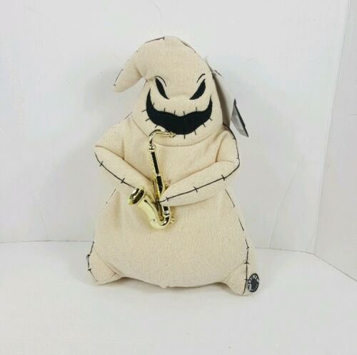 "Nightmare Before Christmas Animated 13/"" Burlap Oogie Boogie Dancing Plays Music"