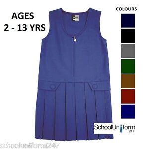 ZECO-GIRLS-ZIP-FRONT-PINAFORE-SCHOOL-UNIFORM-Ages-2-3-4-5-6-7-8-9-10-11-12-13