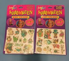 Vintage Lisa Frank Halloween Glitter Tattoos Body Stickers NOS 1990s Lot Of 2