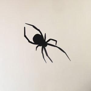 3x SPOOKY SCARY SPIDERS DECAL STICKERS WALL WINDOW HALLOWEEN CAR VAN BUMPER