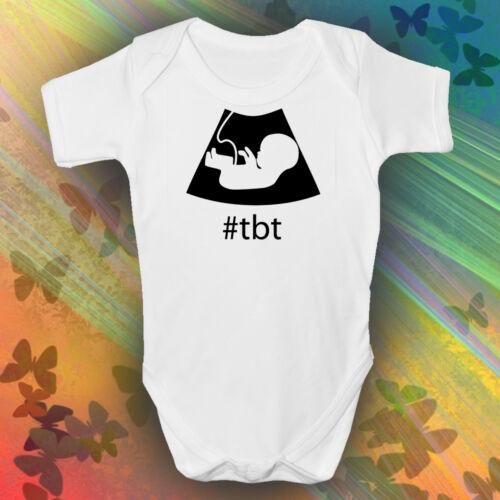 #TBT Baby Grow Boys Girls Unisex White Short Sleeved THROW BACK THURSDAY