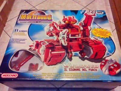 Multiborg Vulcano-robot C/telecomando Filoguidato -gig/meccano- Nuovo.imballato