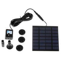 Solar Power Water Pump Panel Kit Fountain Pool Garden Submersible Watering Us