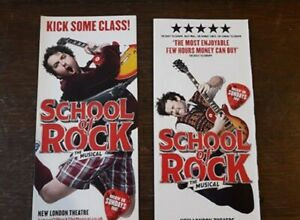 2-DIFFERENTS-FLYERS-FLYER-MUSICAL-WEST-END-LONDON-school-of-rock-2