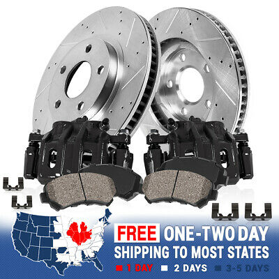 Rotors /& Pads For 2007 2008 2009-2015 Toyota Tundra Rear Brake Calipers