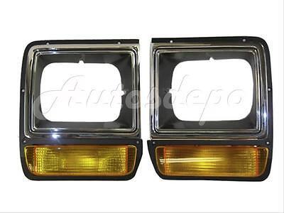 Passenger Side 16372YK 1989 198 Fits 1986-1990 Dodge W350 Headlight Door Right