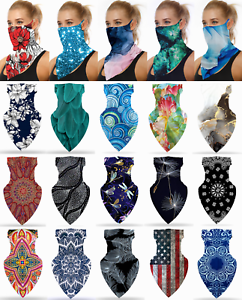 Face Mask Mouth Covering Neck Gaiter Breathable Washable Reusable with Loops Ear